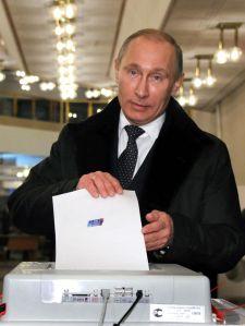 Putin votes